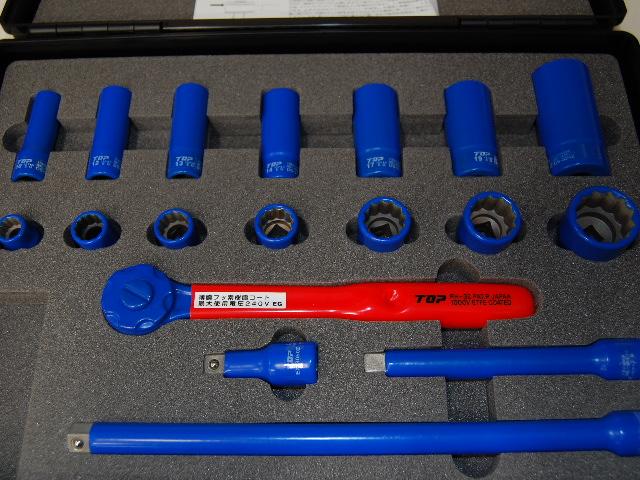 TOP 絶縁ソケットレンチセット ZSWS−318/電設工具 配管工具 空調工具 専門店